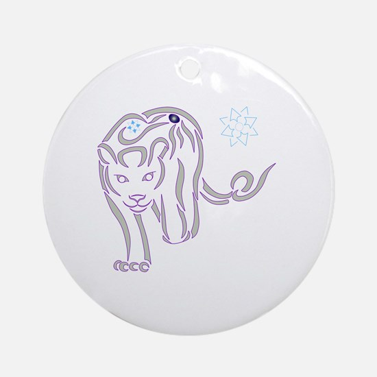 Lioness Tribal Round Ornament