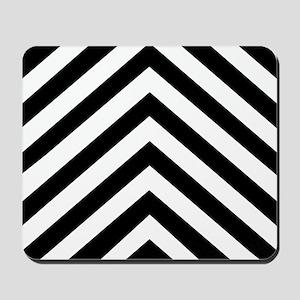 Black & White Chevron Mousepad
