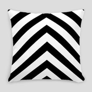 Black White Chevron Everyday Pillow