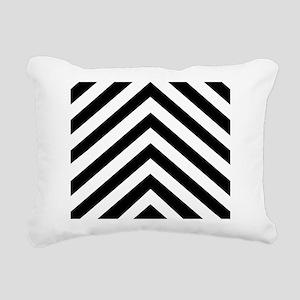 Black White Chevron Rectangular Canvas Pillow