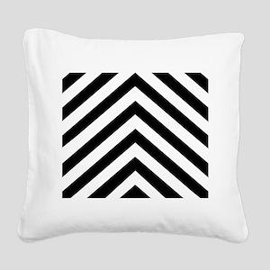 Black White Chevron Square Canvas Pillow