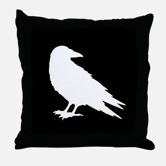 Unique Black crow Throw Pillow