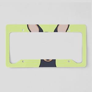 Miniature Pinscher License Plate Holder