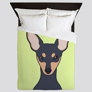 Miniature Pinscher Queen Duvet