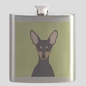 Miniature Pinscher Flask