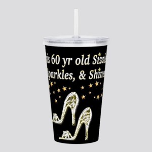 FABULOUS 60TH Acrylic Double-wall Tumbler