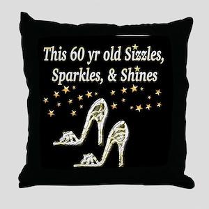 FABULOUS 60TH Throw Pillow