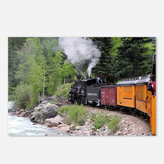 Steam train & river, Colo Postcards (Package of 8)