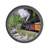 Durango silverton railway Wall Clocks
