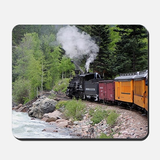 Steam train & river, Colorado Mousepad
