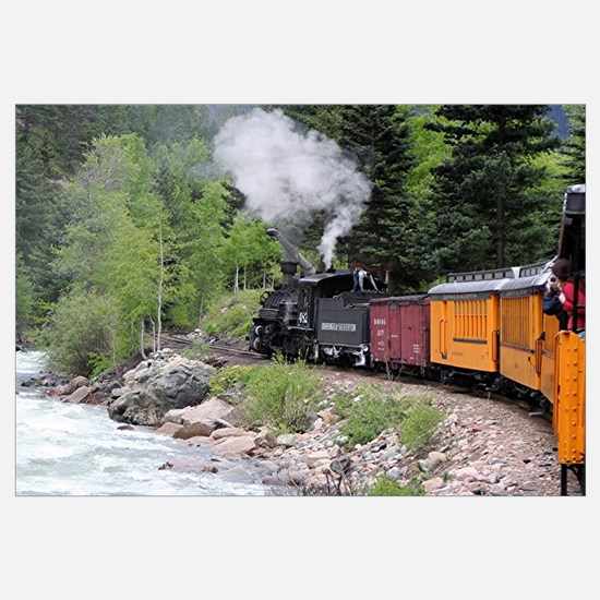 Steam train & river, Colorado