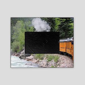 Steam train & river, Colorado Picture Frame