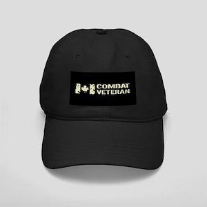 Canadian Flag: Combat Veteran Black Cap with Patch