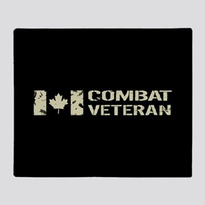 Canadian Flag: Combat Veteran Throw Blanket