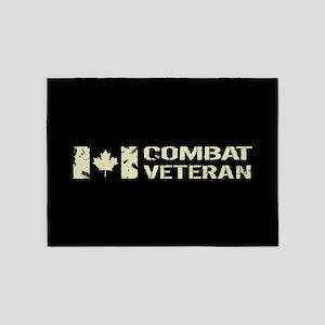 Canadian Flag: Combat Veteran 5'x7'Area Rug