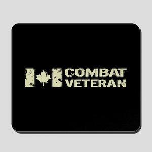 Canadian Flag: Combat Veteran Mousepad