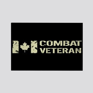 Canadian Flag: Combat Veteran Rectangle Magnet