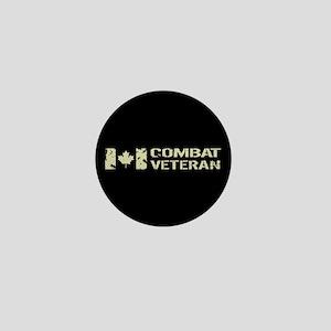Canadian Flag: Combat Veteran Mini Button