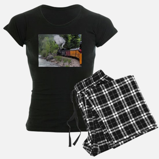 Steam train & river, Colorad Pajamas