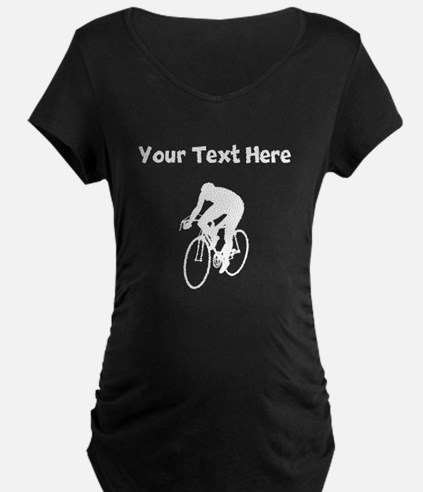 Cyclist Silhouette Maternity T-Shirt