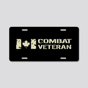 Canadian Flag: Combat Veter Aluminum License Plate