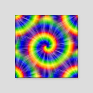 "Tie Dye Pattern Tiled Square Sticker 3"" x 3"""