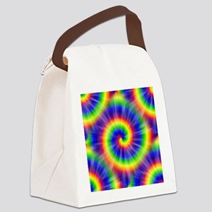 Tie Dye Pattern Tiled Canvas Lunch Bag