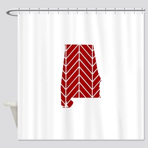 Alabama Chevron Shower Curtain