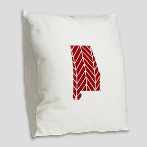 Alabama Chevron Burlap Throw Pillow