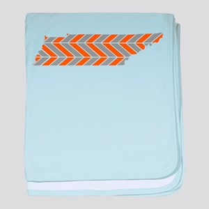 Tennessee Chevron baby blanket