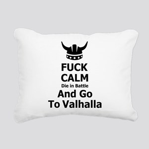 Fuck Calm...Go To Valhalla Rectangular Canvas Pill