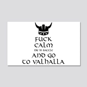 Fuck Calm...Go To Valhalla Wall Sticker