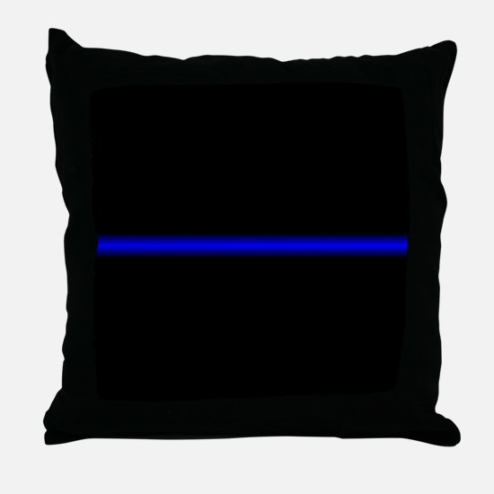 Thin Blue Line Throw Pillow