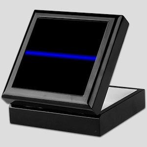 Thin Blue Line Keepsake Box