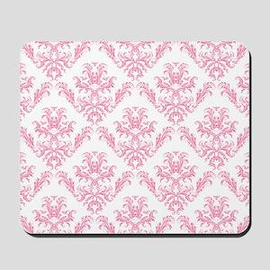 Pink Damask Pattern Mousepad