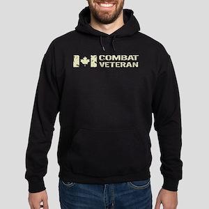 Canadian Flag: Combat Veteran Hoodie (dark)