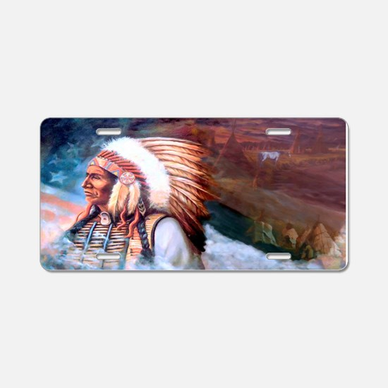 Star Chief Aluminum License Plate