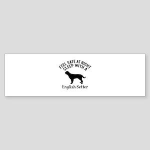 Sleep With English Setter Dog Des Sticker (Bumper)