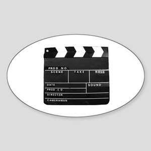 Clapperboard for movie making Sticker (Oval)