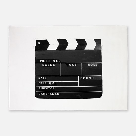 Clapperboard for movie making 5'x7'Area Rug