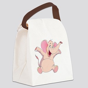 pink elephant Canvas Lunch Bag