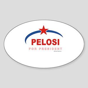 Pelosi for President Oval Sticker