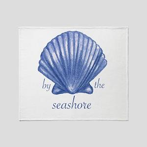 By The Seashore Throw Blanket