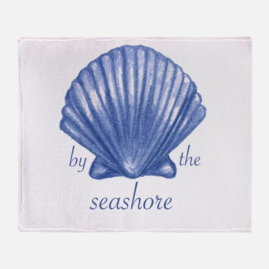 By The Seashore Throw Blanket