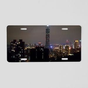 Taipei City Skyline Aluminum License Plate