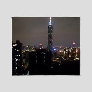 Taipei City Skyline Throw Blanket