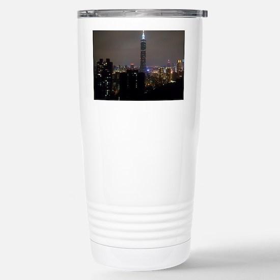 Taipei City Skyline Stainless Steel Travel Mug