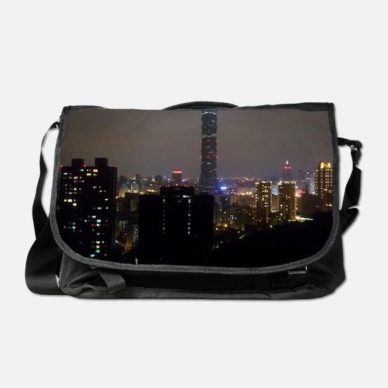 Taipei City Skyline Messenger Bag