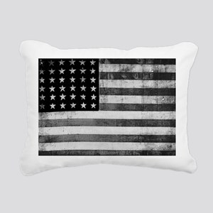 American Vintage Flag Bl Rectangular Canvas Pillow