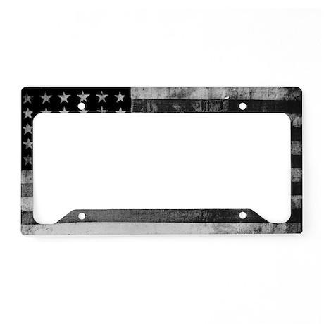 American Vintage Flag Black a License Plate Holder